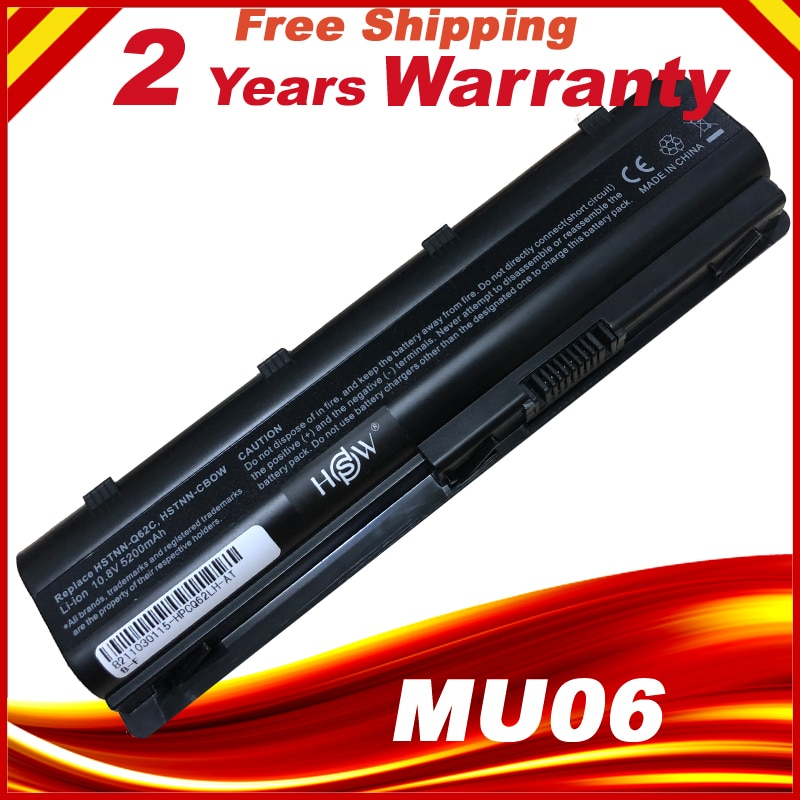 Laptop Battery MU06 593553-001 For HP G62 G72 CQ42 DM4 Notebook PC znovay mu06 laptop battery for hp pavilion g4 g6 g7 cq42 cq32 g42 cq43 cq62 g32 dv6 dm4 g72 593562 001battery mu09 10 8v 47wh
