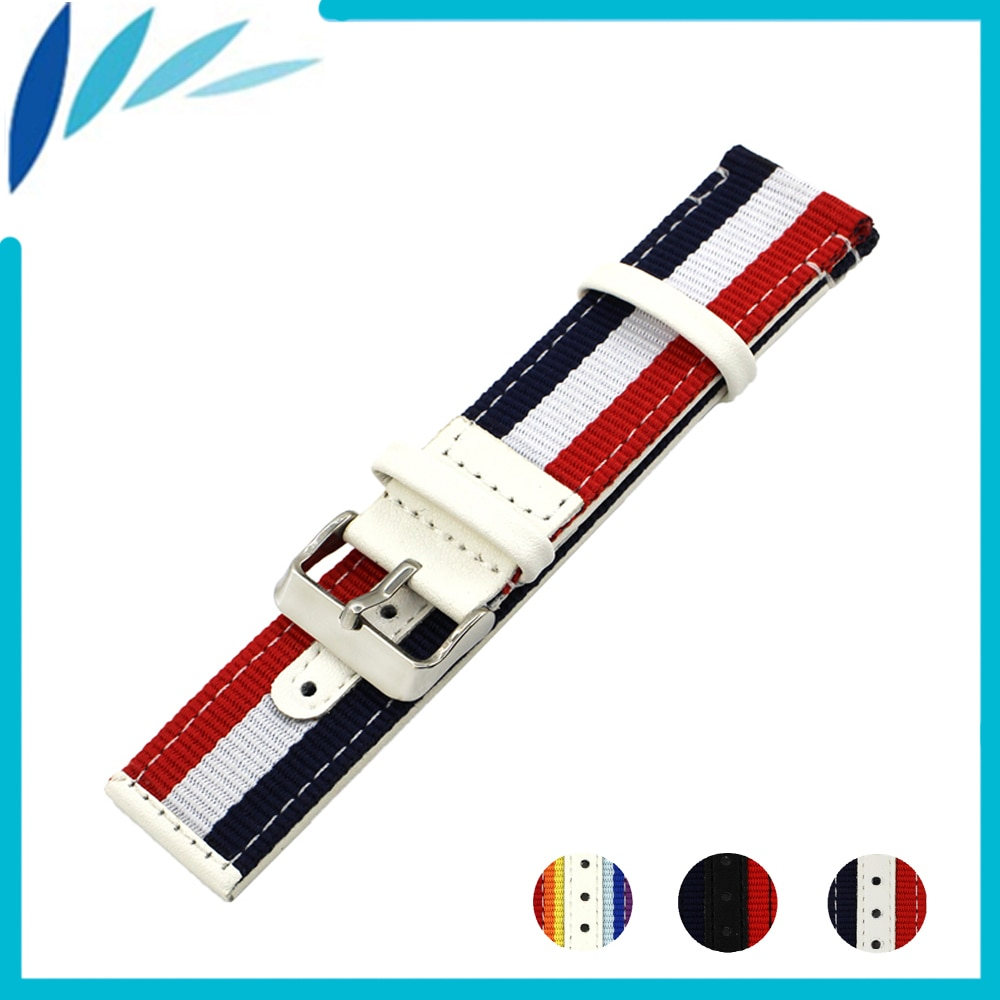 Couro Faixa de Relógio de nylon Nato 22mm 24mm para Oris Tecido Canvas Strap relógio de Pulso Pulseira Cinto de Laço Preto Branco vermelho Azul + Barra de Mola