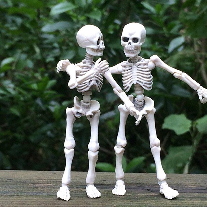 Móvil Sr. Huesos de esqueleto modelo humano calavera cuerpo completo Mini figura de juguete Halloween