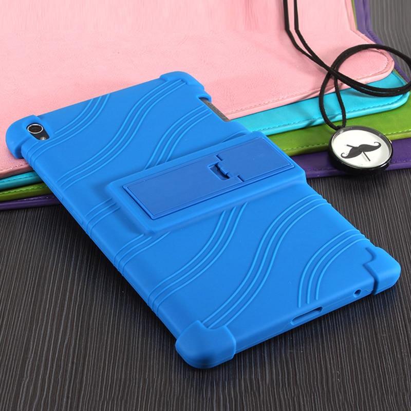 Para Lenovo Tab3 8 Plus gota resistencia suave de silicona caso para Lenovo P8 TB-8703f TB-8703n Tablet cubierta Funda + Pen