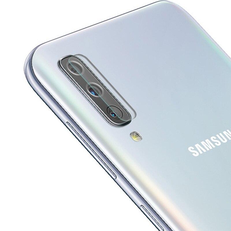 2 uds Cámara lente película protectora de vidrio templado para Samsung A60 A70 A50 A30 A10 S6 S7 borde S8 S9 más Note8 Nota 9 S10