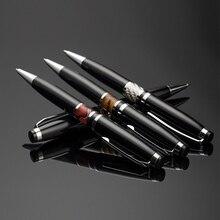 Metal Luxury Ballpoint Pen 0.7mm Black/Blue Ink Refill High Quality For Business Writing Pen Office School Supplies Send 1Refill