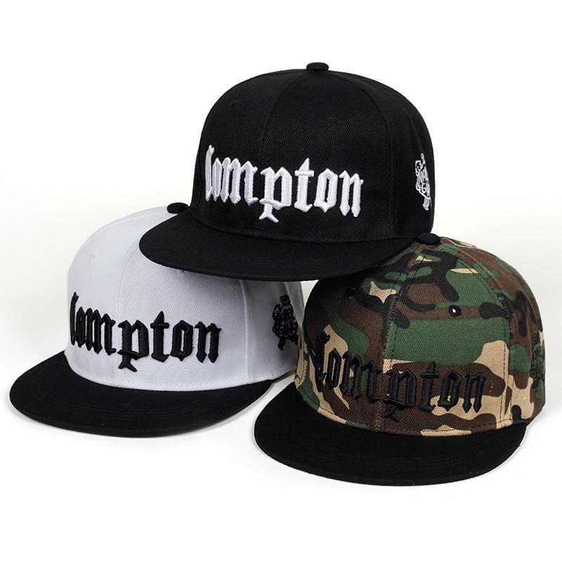 Compoton Camouflage Hat Men Embroidered Baseball Cap Woman Cap Summer Hip Hop Black White Cap