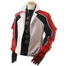 Leo Cosplay chaqueta roja blanca Cosplay disfraz top + abrigo + bufanda + guantes