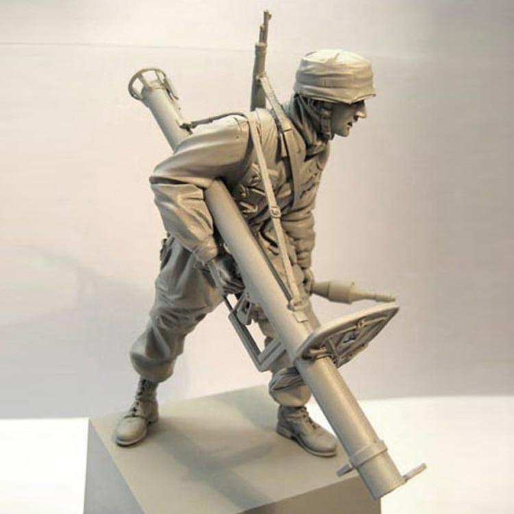 1/16 soldado figura da resina modelo Normandia guerra paraquedista gk mão branca modo de cena militar da Segunda Guerra Mundial 144