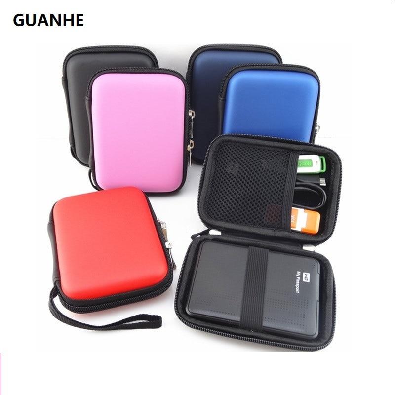 Чехол для внешнего жесткого диска GUANHE estuche на молнии, чехол для внешнего жесткого диска 2,5 дюйма, чехол для жесткого диска 2,5 дюйма, GPS, жестког...