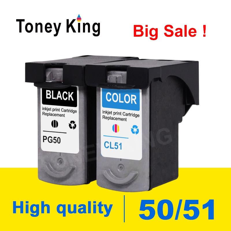 Toney rey cartucho de tinta para canon PG50 PG 50 Compatible IP2200 IP2400 MP150 MP160 MP170 MP180 MP450 MP460 cartuchos de impresora