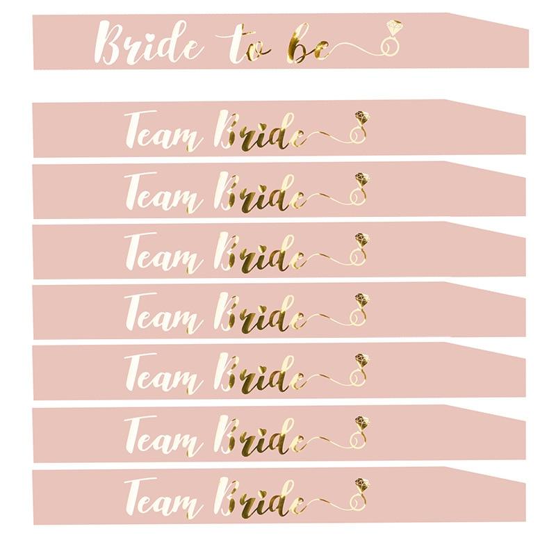 """1 шт. курица вечерние, с надписью """"Bride to Be"""", розовое, с надписью """"Bride to Be"""" пояс с девичник девичников, вечерние свадебные душ с надписью золотистого цвета и HW67"""