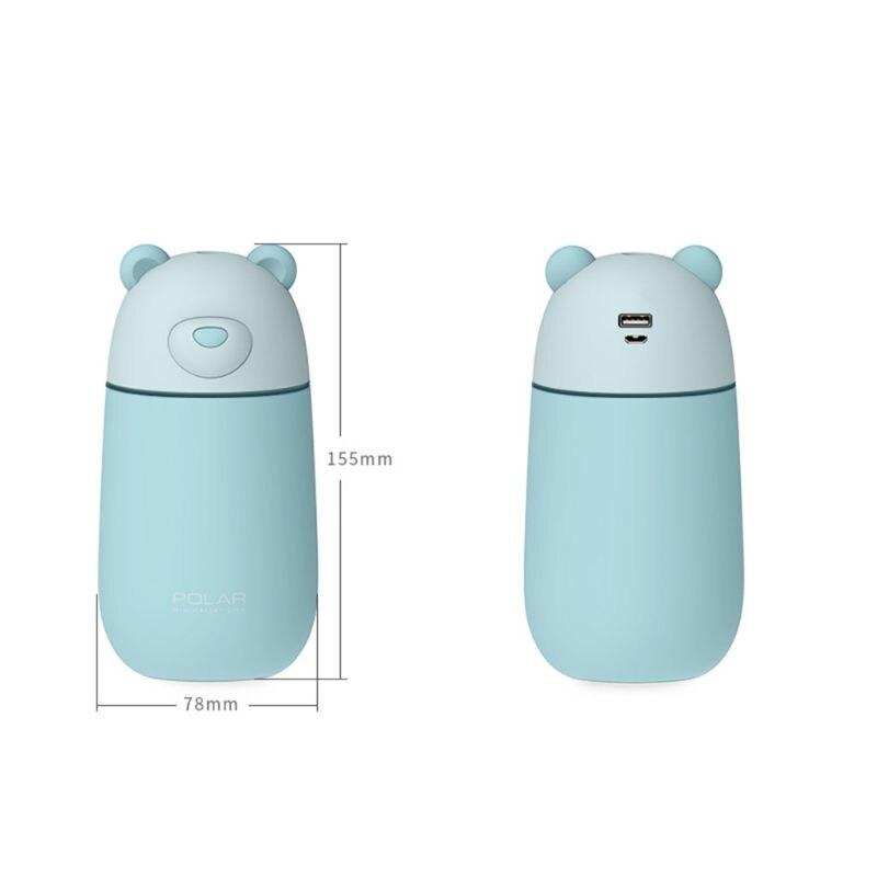 3 in 1 USB Ultrasonic Cool Mist Humidifier LED Lighting Fan Car Vehicle Air Humidifier Ultra-Silence Mini Desk Vaporizer Purifiers Auto Shut Off