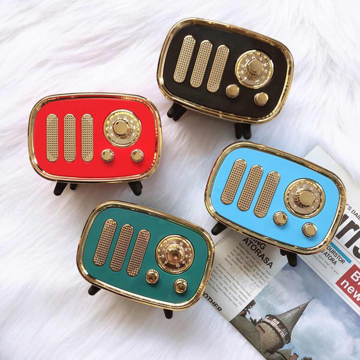 Portable bluetooth Speaker Retro Mini Wireless USB Charge bluetooth Speaker Radio TF Card Music Player HIFI Subwoofer Speaker