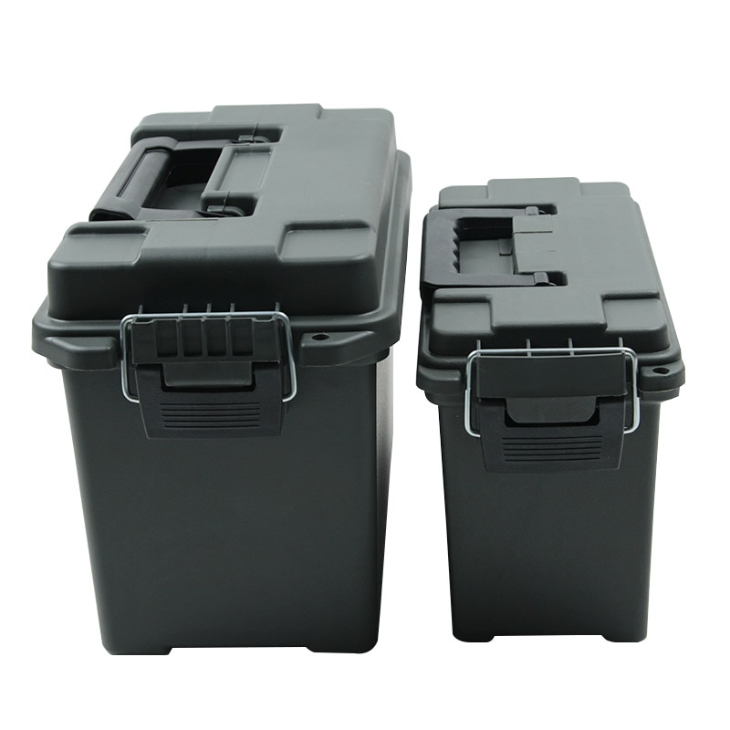 Caja de munición de plástico caja de almacenamiento de estilo militar caja de municiones ligera de alta resistencia accesorio de munición caja de almacenamiento caja de balas táctica