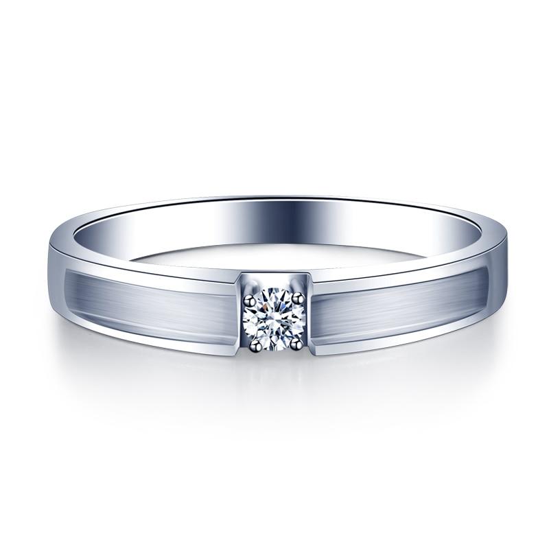 ZHJIASHUN حقيقية 0.1CT الأميرة قص الطبيعية الماس هالو الحقيقي 18 k الذهب الأبيض الزفاف خاتم الخطوبة للنساء مجوهرات