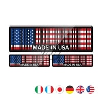 3d bar code sticker made in usa uk italy germany motorcycle tank pad decal stickers