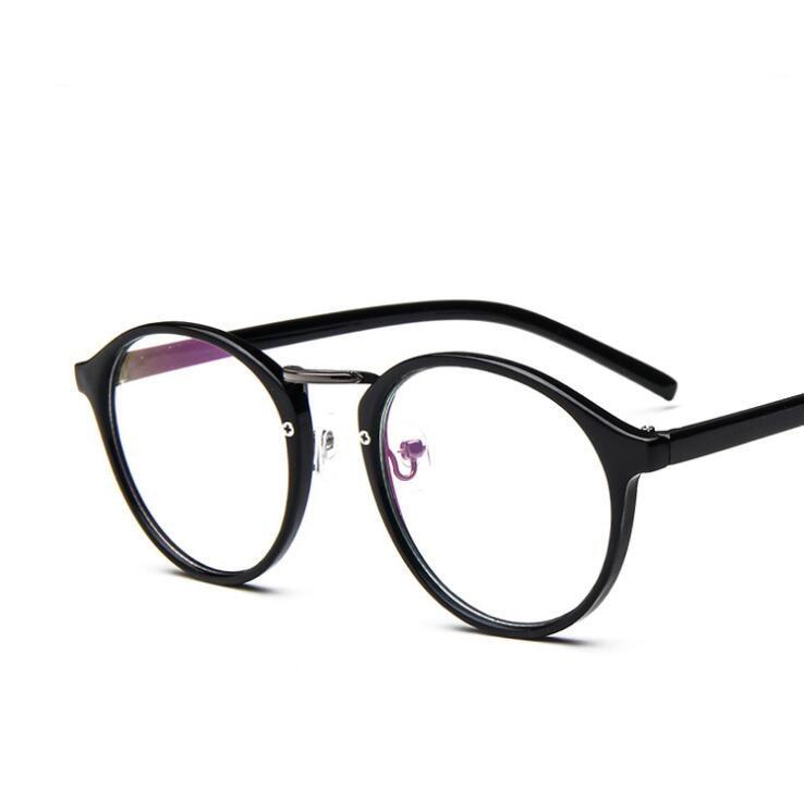 Vintage Circle Non-Mainstream Glasses Print Floral Eyeglass Frames Women Plain Mirror Male Big Ultra-light Nerd Eyeglasses Frame