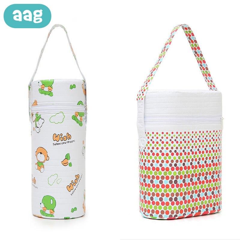 Bolsa de aislamiento para biberones de bebé AAG, bolsa térmica para almacenar comida de bebé, bolsa térmica para biberones de bebé, bolsas colgantes para cochecito de bebé 0