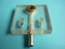 Panneau acrylique de Jet deau de 48x50x10mm/plaque de refroidissement de Jet deau avec la buse en laiton pour la Machine à grande vitesse de coupe de fil de Dewei EDM