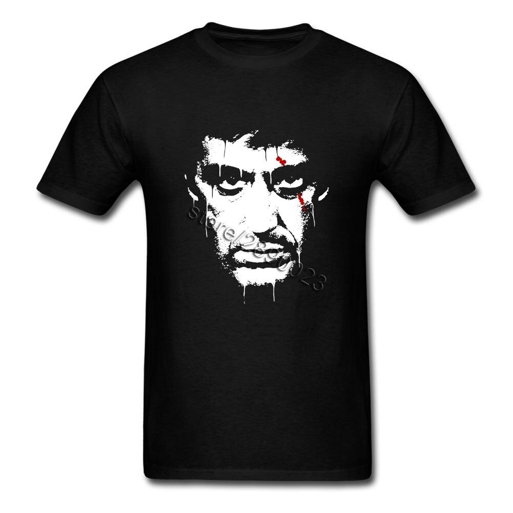 Brand Men's T-shirt Scarface Al Pacino As Tony Montana Short Sleeved Pure Cotton O Neck T Shirt for Teenage Camiseta