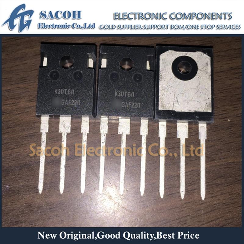 Free Shipping 10Pcs IKW30N60T K30T60 K30N60 30N60 TO-247 30A 600V Power IGBT transistor