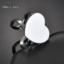 Nextvance anéis de compromisso feito sob encomenda, anéis de amor do coração sinete personalizado, gravação personalizada para casamento, amantes, anéis de promessa, natal