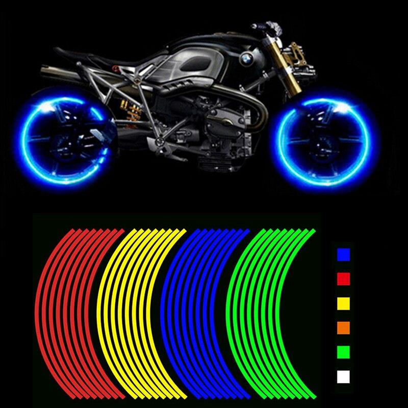 Motorrad Styling Rad Hub Rim Streifen Reflektierende Aufkleber Aufkleber Sicherheit Reflektor Für YAMAHA