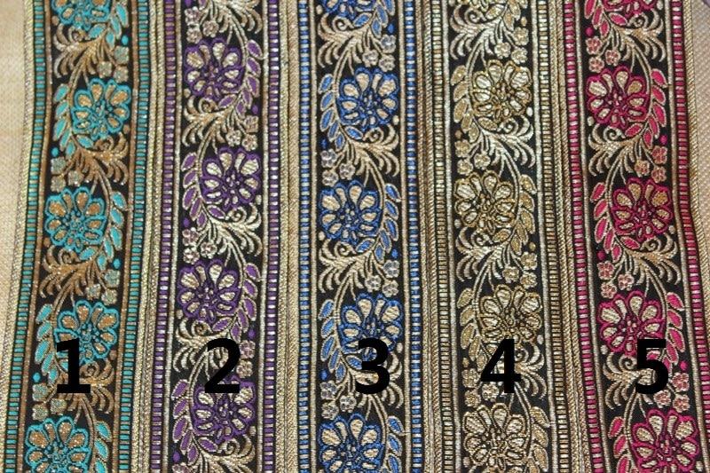 Breite 5 cm 10 yards/lot Polyester Gesponnenes Jacquardwebstuhl-band Geometrische muster für hut vorhang und kleidung zubehör ls-1151