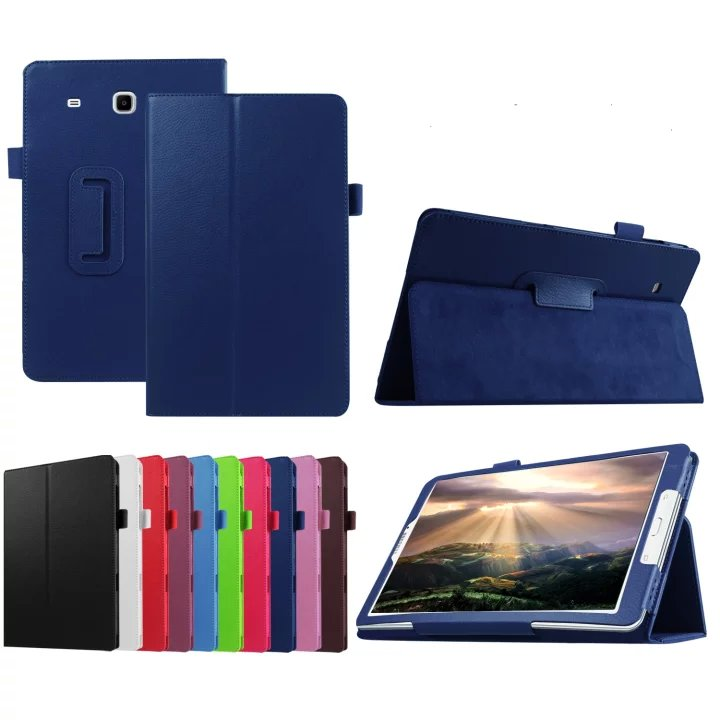 Book Style Flip Pu leather case cover with stand and mix color Apply to Samsung galaxy tab E 8.0 T377 Tablet case