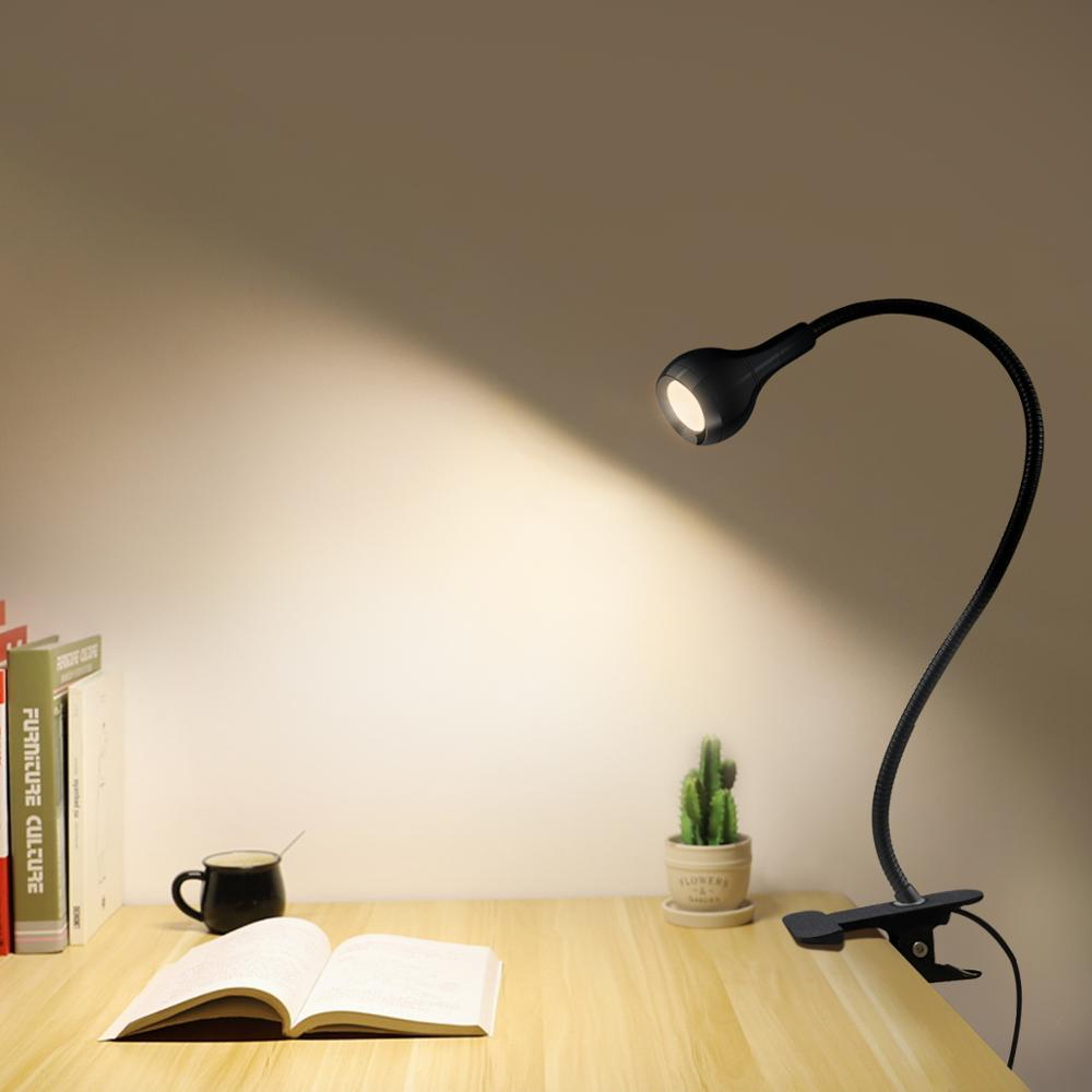 usb power clip holder led book light desk lamp 1w flexible led reading book lamp switch on off table lamp for bedroom study room 5V USB power LED Desk lamp Flexible study Reading Book lights Eye Protect Table lamp With Clip for home bedroom study lighting