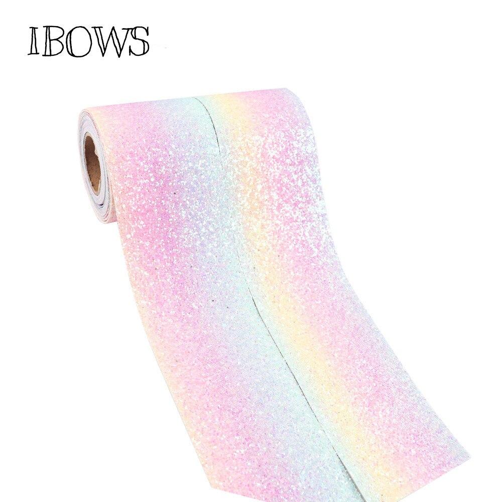 (2 yardas/rollo) 3 (75mm) cinta con brillo tejido grueso brillante DIY accesorios para el pelo Paquete de regalo hecho a mano Material recién llegado