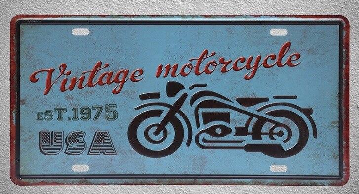 1 pc de la bici de la motocicleta moto rider garaje Estados Unidos carteles de hojalata de pared Decoración Para cuarto de hombre de Metal arte cartel Vintage