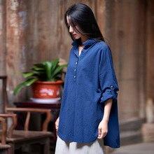 Harajuku frauen lange ärmeln shirts weg schulter hemd und bluse vintage baumwolle leinen blusas vadim pull top camisa feminina