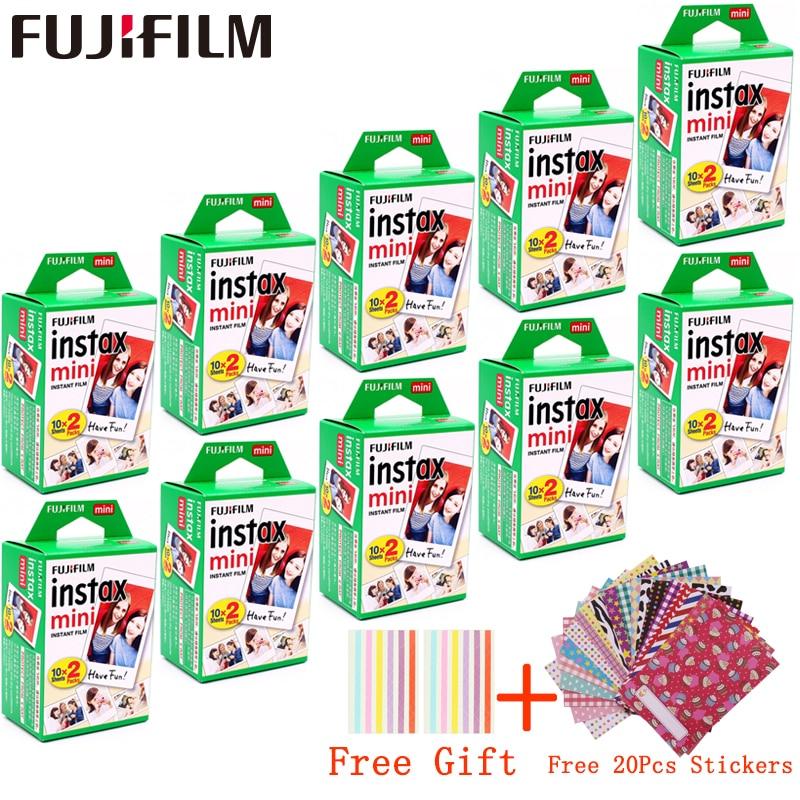 10 - 100 sheets Fujifilm Instax Mini White Film Instant Photo Paper For fuji Instax Mini 11 8 9 7s 9