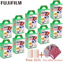 10-200 feuilles Fujifilm Instax Mini Film blanc papier Photo instantané pour fuji Instax Mini 8 9 7s 9 70 25 50s 90 SP-1 dappareil Photo 2