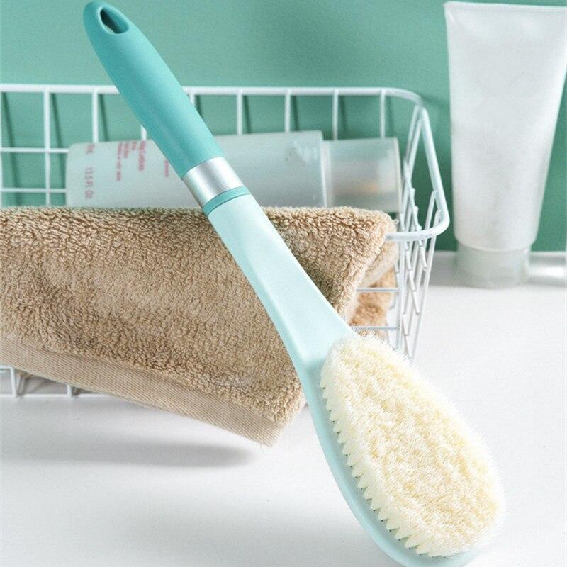 Cepillo de baño, cepillo de plástico para exfoliación de la espalda, cepillo de masaje para la piel, cepillo para frotar los pies, accesorios de baño