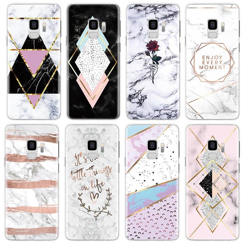 Marble TPU Cover For Samsung Galaxy J3 J5 J7 Prime Coque A5 A3 2016 2017 J4 J6 A6 A7 A8 2018 Note 8 9 S8 S9 S10 Plus Lite Case