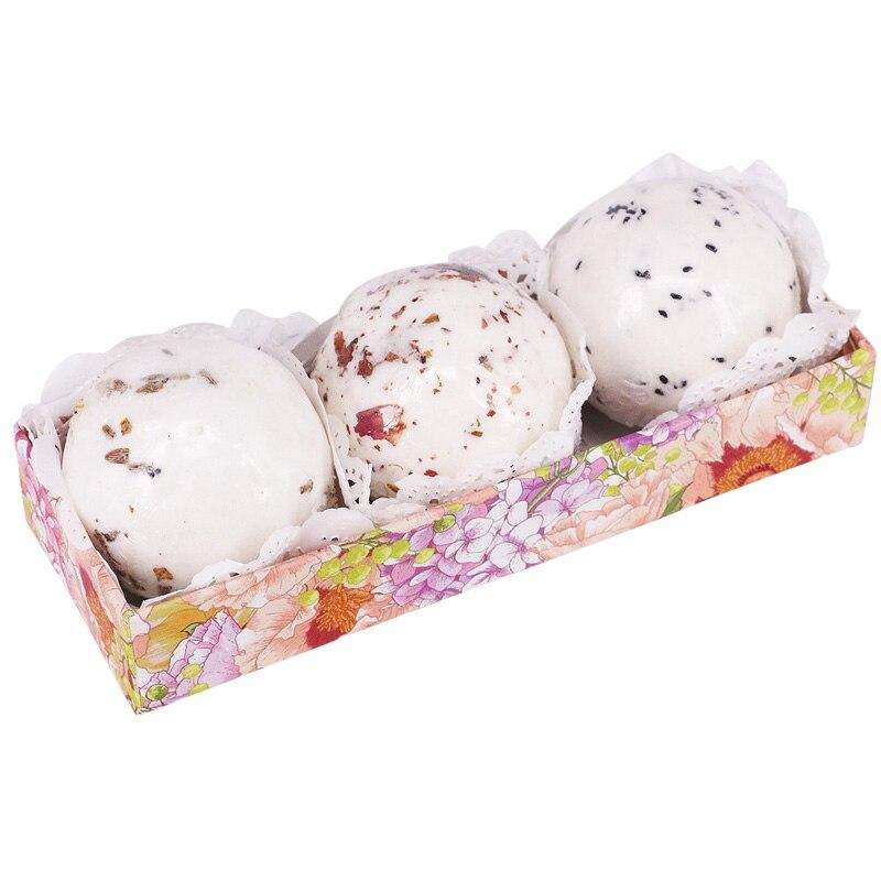 3 uds bomba de sal de baño bola flor burbuja blanqueamiento hidratante SPA relajación regalo HJL2018