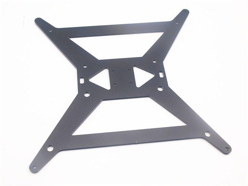 4 ملليمتر الأسود بأكسيد الألومنيوم الرتيلاء/HE3D Y النقل لوحة V3 ل ترقية Heatedbed دعم لوحة MGN12H النقل