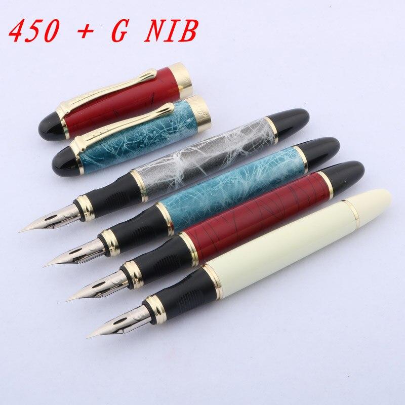 Inglese calligrafia penna a tutto tondo del corpo Immerso in nib La punta di un cerchio JINHAO 450 Incisore di Script G PENNINO penna Stilografica