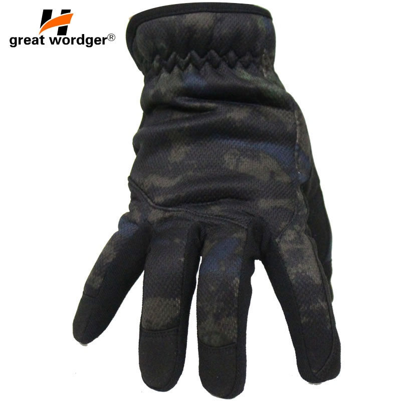 Outdoor Multicam Camouflage Tactical Gloves Army Lightweight Paintball Shooting Military Gloves Men Airsoft Full Finger Mittens