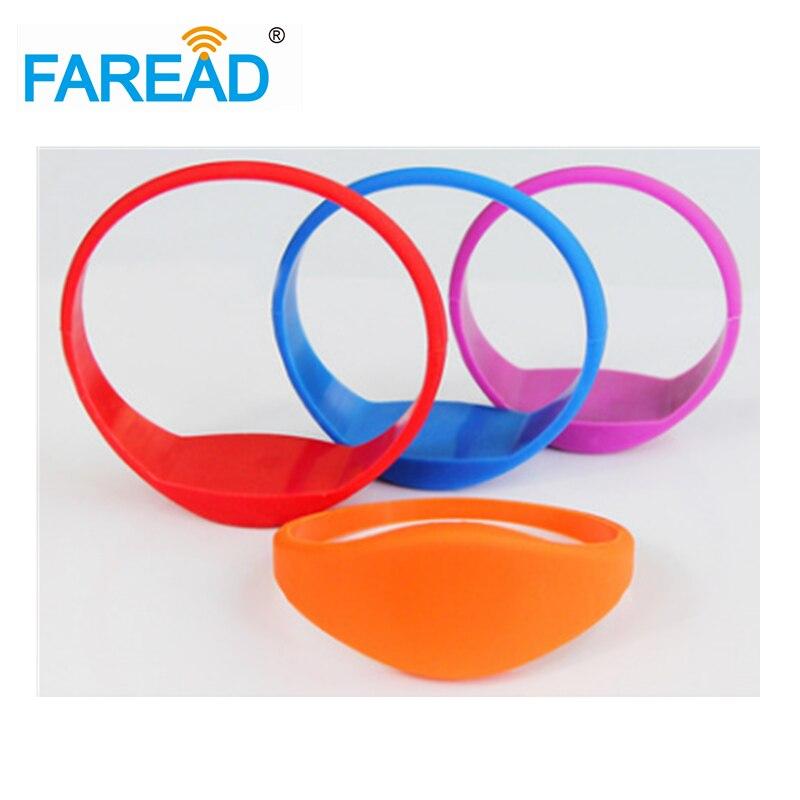 x100pcs Free shipping 13.56MHz I-CODE-2  RFID Wristband  For supermarket, amusement park, theme park