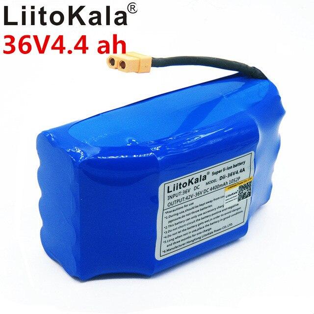 Новый литиевый аккумулятор liitokala 36v 4.4ah 10s2p 36 36v 4.4ah литий-ионный аккумулятор 4400v mah twist скутер автомобильный аккумулятор