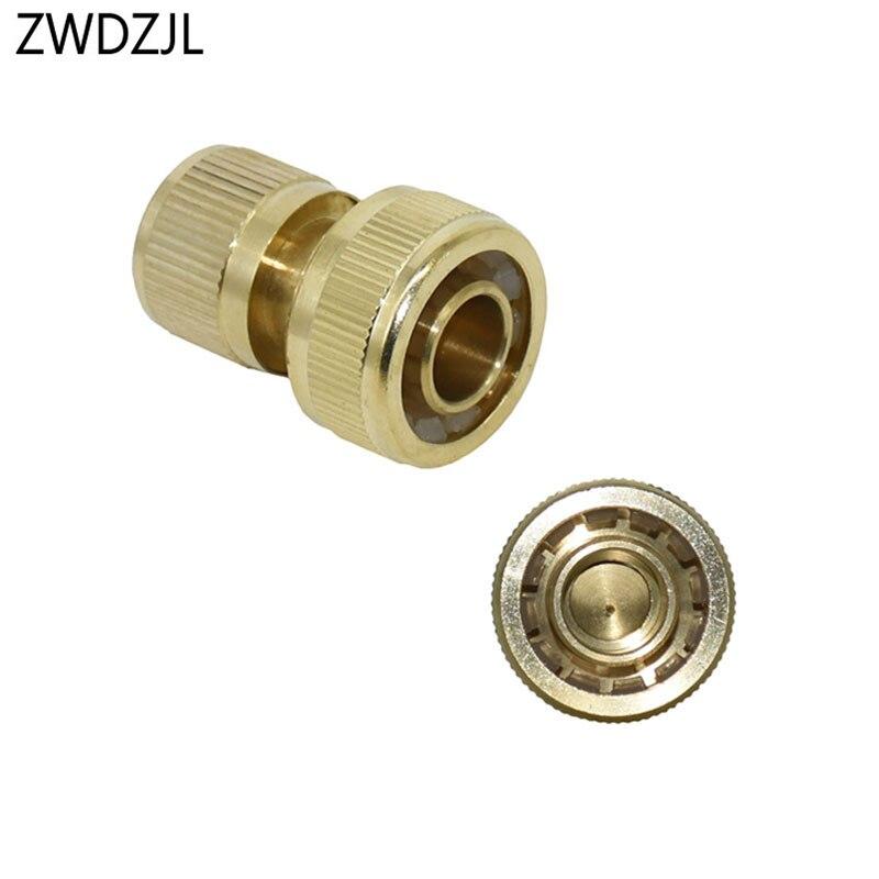 Conector de latón de 3/4 pulgadas resistente al agua, conector rápido de manguera de jardín de cobre, adaptador de pistola de agua 3/4, 1 Uds