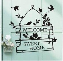 % Autocollants muraux en vinyle   Étiquette de citation, bienvenue à notre maison, autocollants décoratifs adesivo de paréo, démontables papillon animal, papier peint
