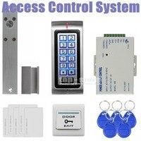 DIYSECUR Electric Bolt Lock 125KHz RFID Password Keypad Access Control System Security Kit + Exit Button K2