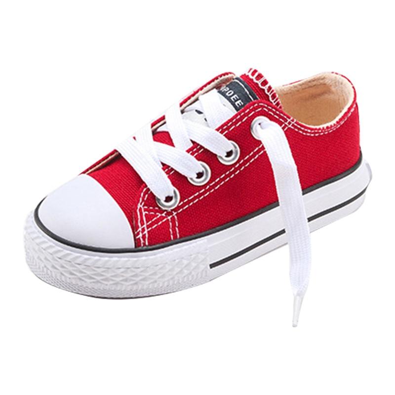 2019 Classic Children Shoes Girls Boys Canvas  Kids Sneakers Tendon Casual Shoes Solid Color Chaussures Garcon Enfant