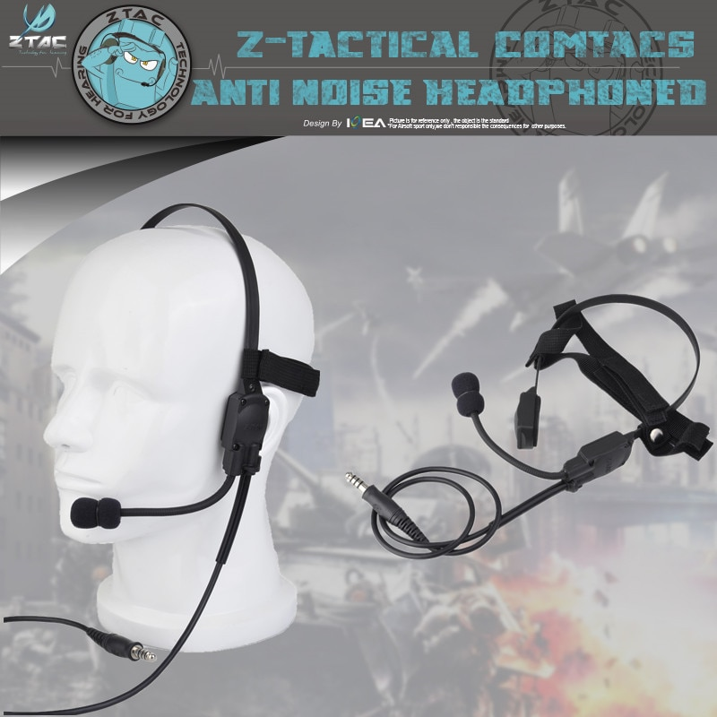 Aplicar a cualquier Z-TAC serie Ptt z-tactical auricular PTT Z136 Mh180-v señal Atlantic auricular el hueso conducción altavoces