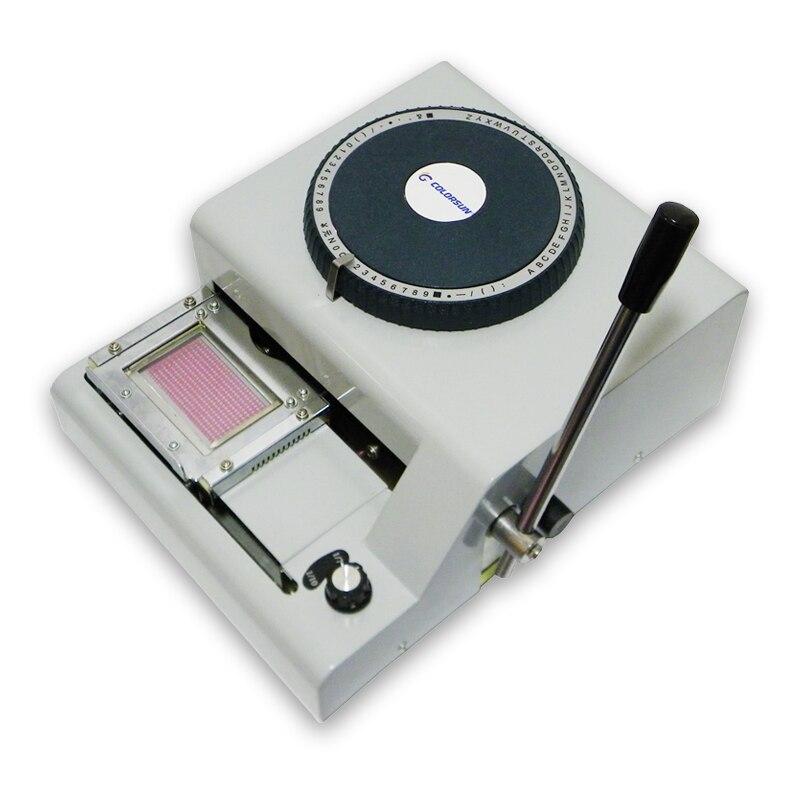 Impressora de código do pvc para gravar a máquina do número no cartão do pvc