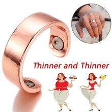 De las mujeres de oro rosa negro magnético salud anillo evitar ronquidos Delgado Fitness de pérdida de peso adelgazamiento anillo magnético para los hombres