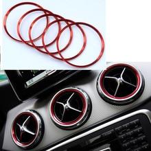 Angelguoguo для Mercedes Benz A/B/GLA/CLA класс алюминиевый сплав воздушная наклейка на розетку/приборную панель воздушная розетка украшение кольцо