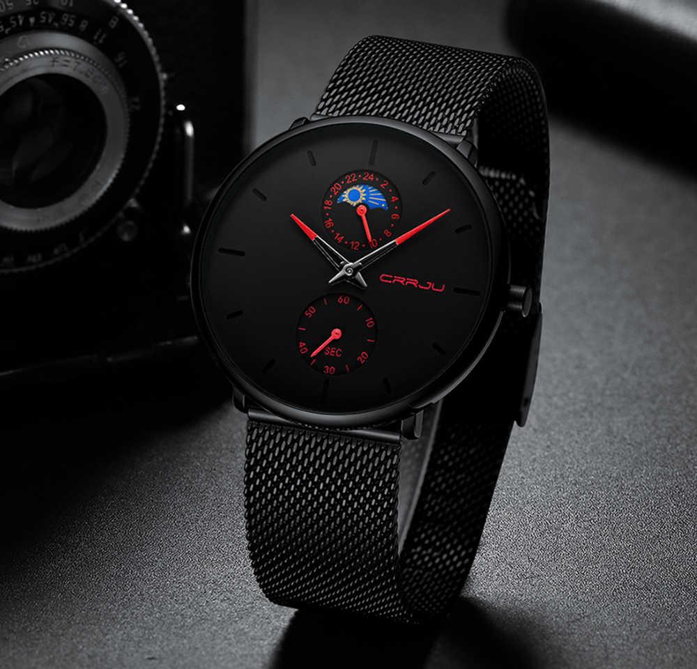 Men Watch Fashion Ultra Thin Top Brand Luxury Crrju Quartz Watch Men Casual Waterproof Sport Mesh Steel Watch Relogio Masculino Quartz Watches Aliexpress