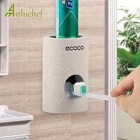 Distributeur automatique de dentifrice paille de ble presse-dentifrice etanche a la poussiere ensemble daccessoires de salle de bain